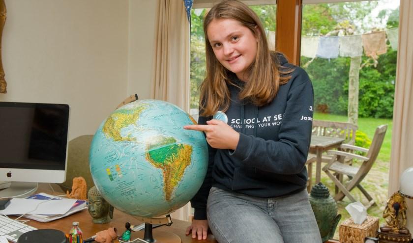 Dankzij School at Sea zag Jasmijn het afgelopen half jaar heel wat van de wereld. (Foto: Maaike van Helmond)