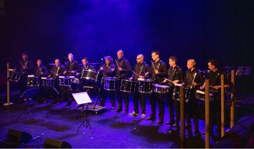 De percussiegroep Volharding ( Beek) kreeg een nominatie voor de finale. (foto: Henk den Brok)