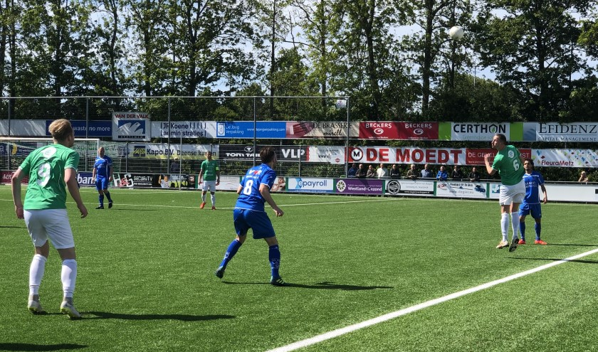 Rijsoord blijft door de overwinning op Westlandia in de race voor het kampioenschap (Foto: PR)