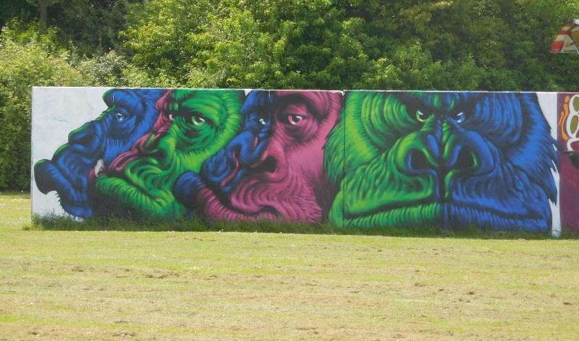 graffitimuur in het Prinsenpark