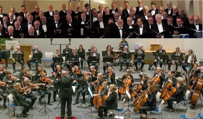 rijnlands Symfonie Orkest met mannenkoor in Zoeterwoude