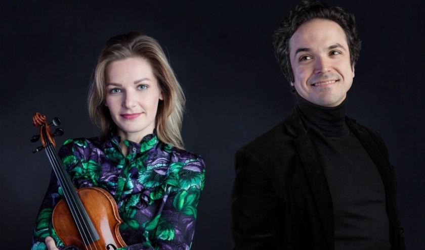 Violiste Floor Braam en pianist Lus Rabello.