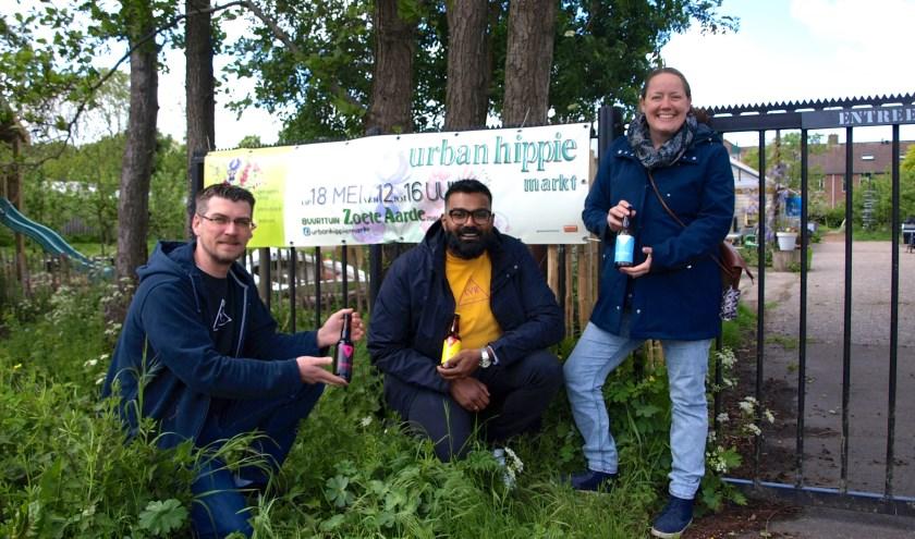 Op zaterdagmiddag 18 mei tussen 12:00 en 16:00 staat het hek van Buurttuin Zoete Aarde wagenwijd open. Ontmoet LVR Breweries Loek Eerhart en Viresh Bachoe en organisator Urban Hippie Deborah Mosselman.
