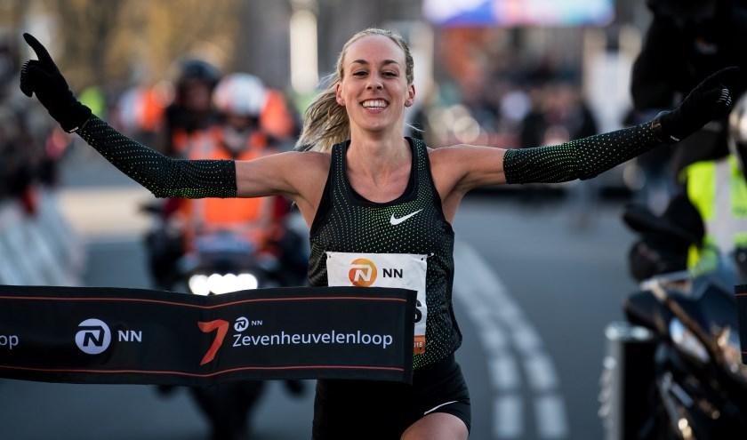 Susan Krumins bij de NN Zevenheuvelenloop in 2018.