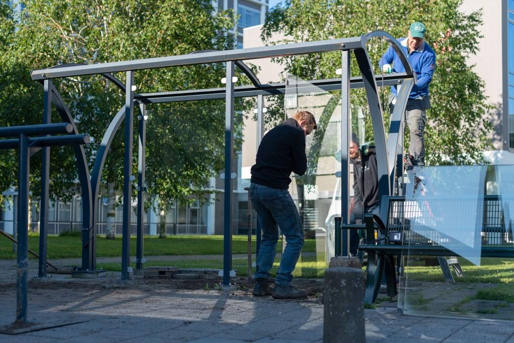 De abri's worden ontmanteld en krijgen een gezonde en sportieve nieuwe bestemming.  © DPG Media