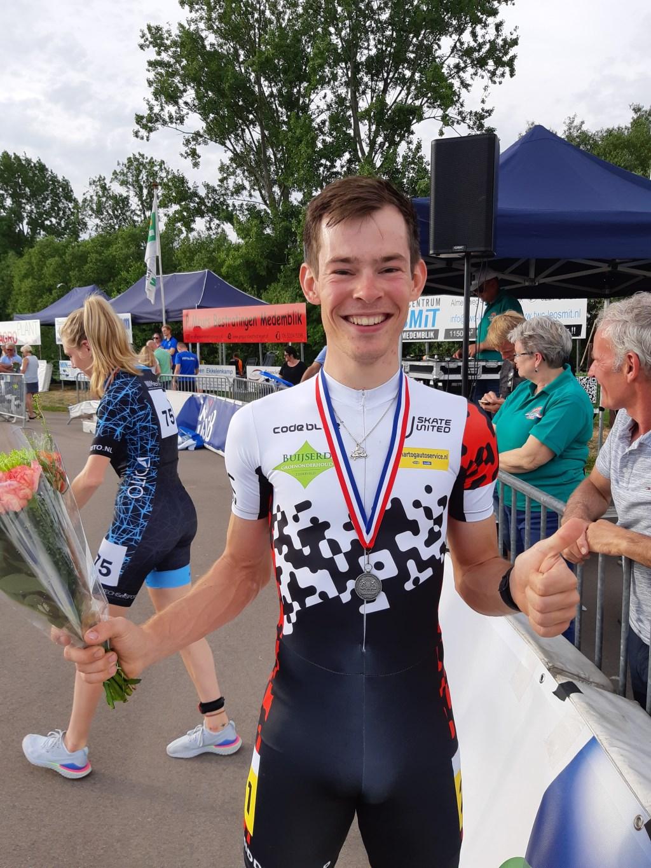 Marc Middelkoop tevreden met zijn tweede plaats Foto: eigen foto © DPG Media