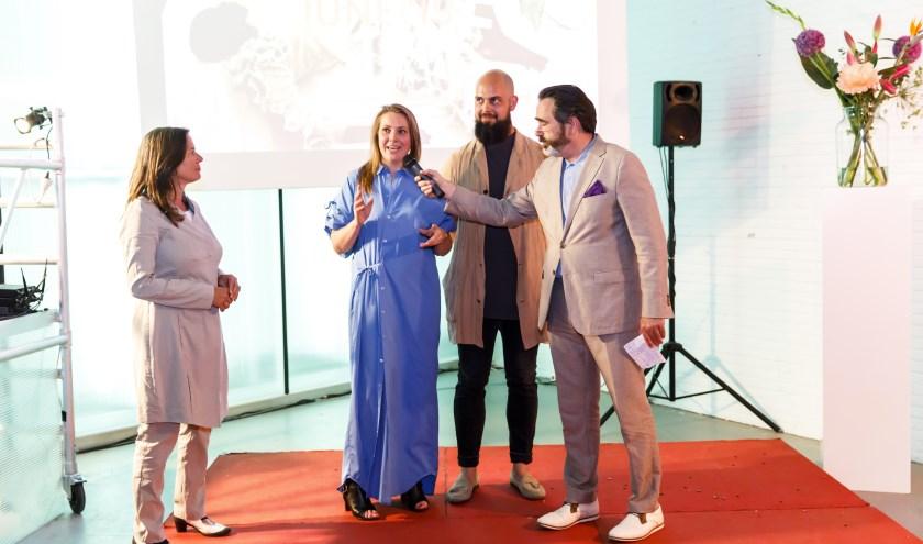 Saskia Bak (Bestuur FDFA), Riëlle Schoeman (Zakelijk directeur FDFA), Sebastiaan Kramer (Creatief directeur FDFA) en Berry Kessels (Bestuur FDFA) tijdens de opening van FDFA Showroom