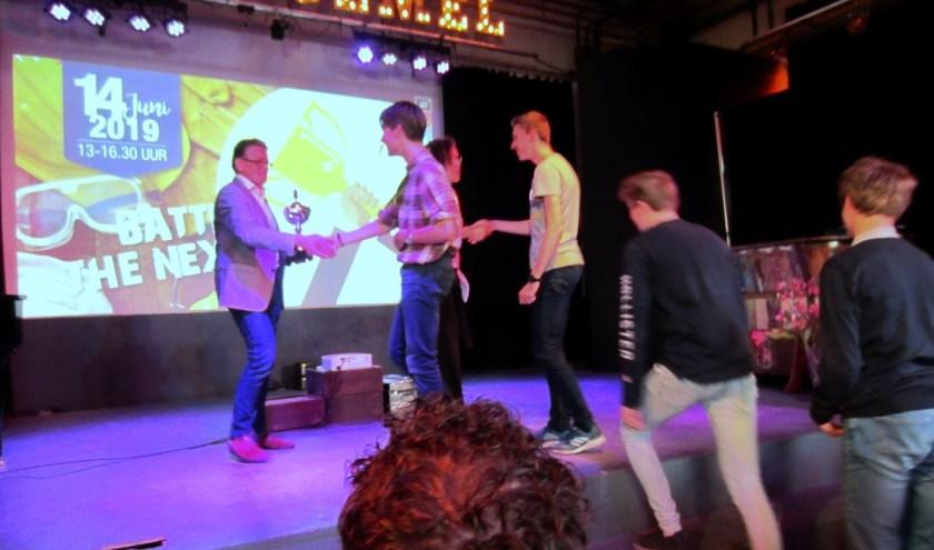 Ozzy Scheepbouwer, Eric Verhey, Fransco Roset en Noa Heinsius zaten in het winnende team.