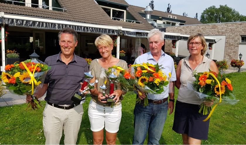 Van links naar rechts: Piet Bokelaar, Clarie Bergamin, Hans van Beek en Herma Hollander.
