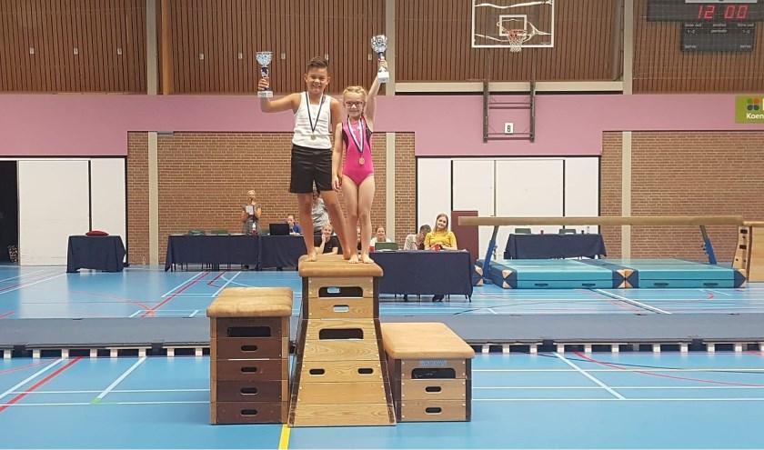 Bo Dijkhuis wist bij de meisjes dit jaar de hoogste score te behalen en mocht de wisselbeker in ontvangst nemen, bij de jongens was deze bekervoor Mart de Groot.