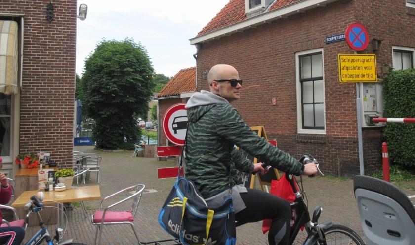 De Schippersgracht is nog steeds afgesloten. (Foto: Ria van Vredendaal)