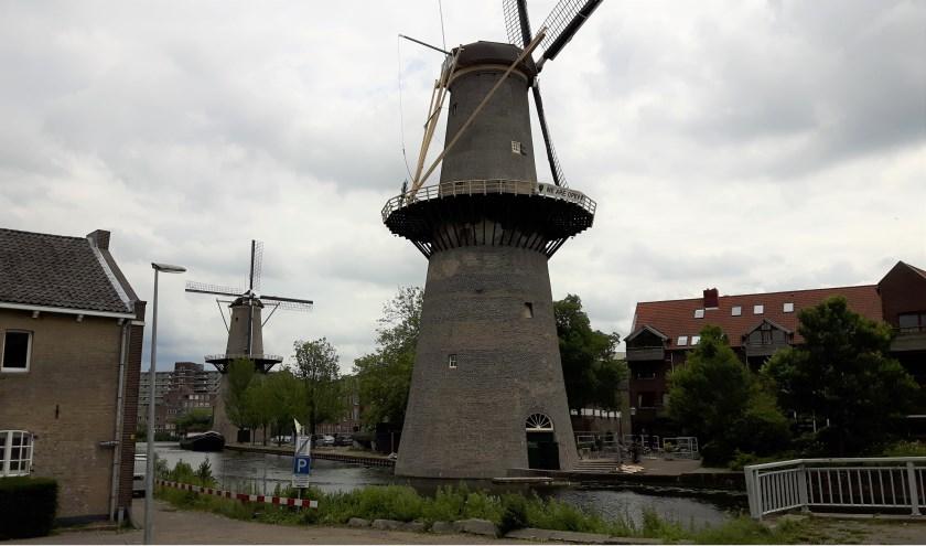 molen De Noord met op de achtergrond molen De Palmboom.