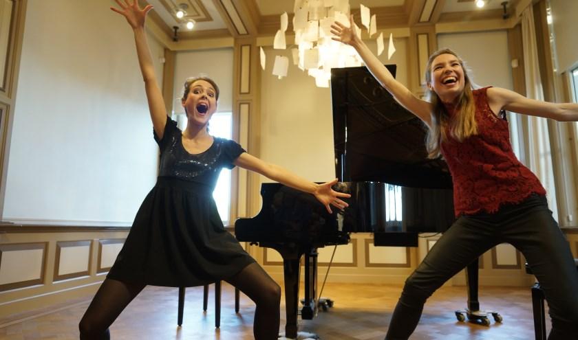 Pianoduo Beth & Flo sloten het seizoen feestelijk af. Foto: Arie Kers