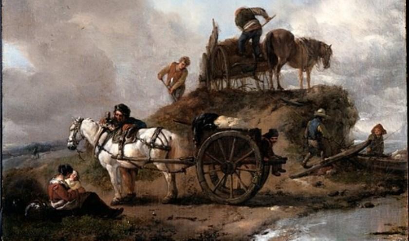 Boeren op het land, een schilderij van Philips Wouwermans. Een afbeelding van het schilderij siert de omslag van De hoeve en het hart.