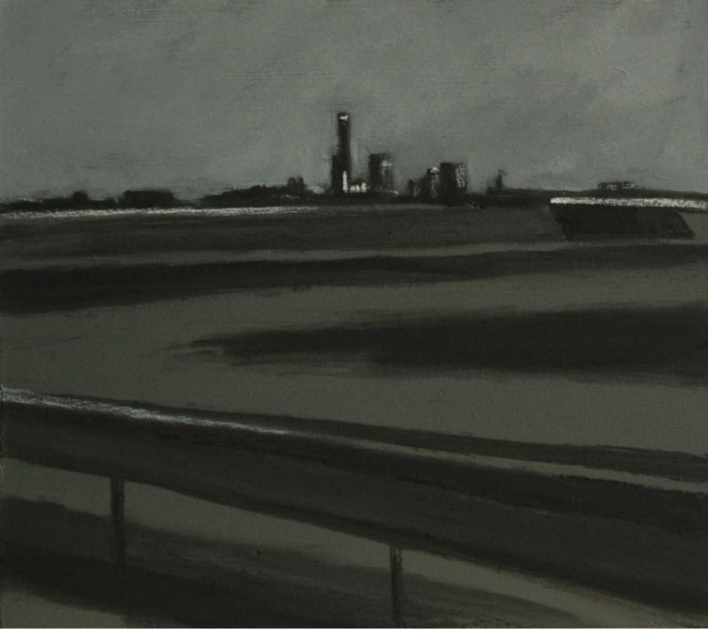 Janneke Slot gaat maar werk terug naar de basis: de kleuren en tonen van zwart.  Foto: Galerie Tolg'Art © DPG Media