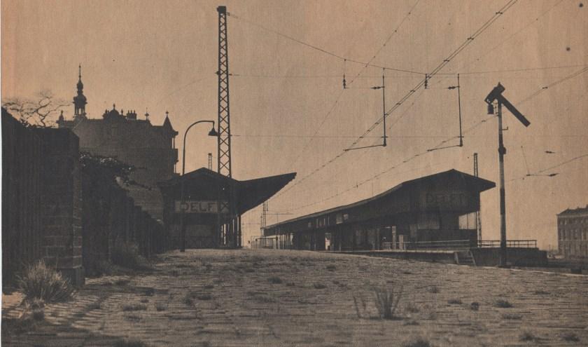 Station Delft na de staking.