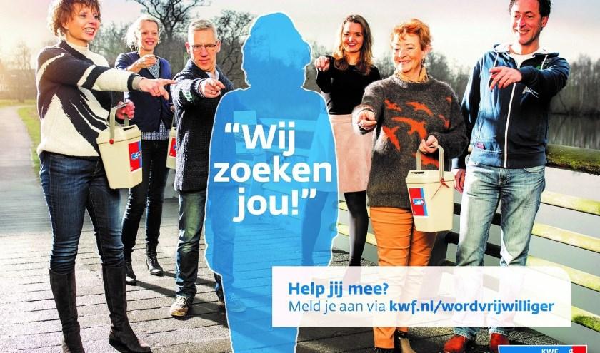 Wil jij helpen om de zeventigste editie van de KWF-collecteweek in Waalwijk tot een groot succes te maken? Meld je dan snel aan als coördinator op 06-22510074, of mail naar aleeuw@kwf.nl.