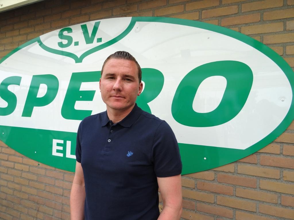 Voormalig SKV-trainer Kevin van Veen is sinds het seizoen 2019-2020 hoofdtrainer bij Spero uit Elst (Gld). Foto: Dick Martens © DPG Media