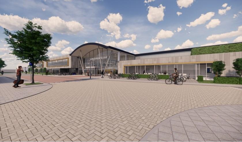 Artist impression van sportcomplex Vondersweijde. De verwachting is dat het definitief ontwerp eind 2019 wordt opgeleverd en dat volgend voorjaar de eerste bouwwerkzaamheden beginnen.
