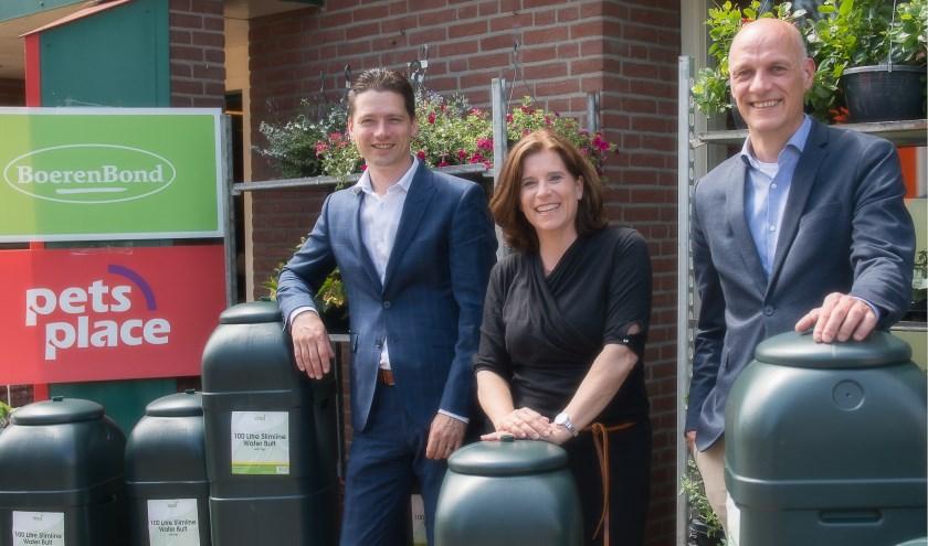 Van links naar rechts: wethouders Erik Wilmsen (Alphen-Chaam), Ariane Zwarts (Gilze en Rijen) en Nico Sommen (Baarle-Nassau). (foto: Satela)