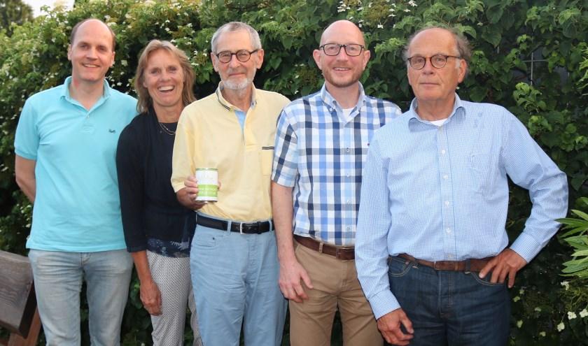 Bestuursleden coöperatie Biltstroom van links naar rechts: Christoph Buter, Annemieke Roestenberg, Bert Roke, Bart Wiegmans, Ferrand op ten Noort