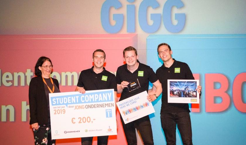 Bedrijf GIGG van studenten Rijn IJssel verkozen tot Student Company van het Jaar 2019.