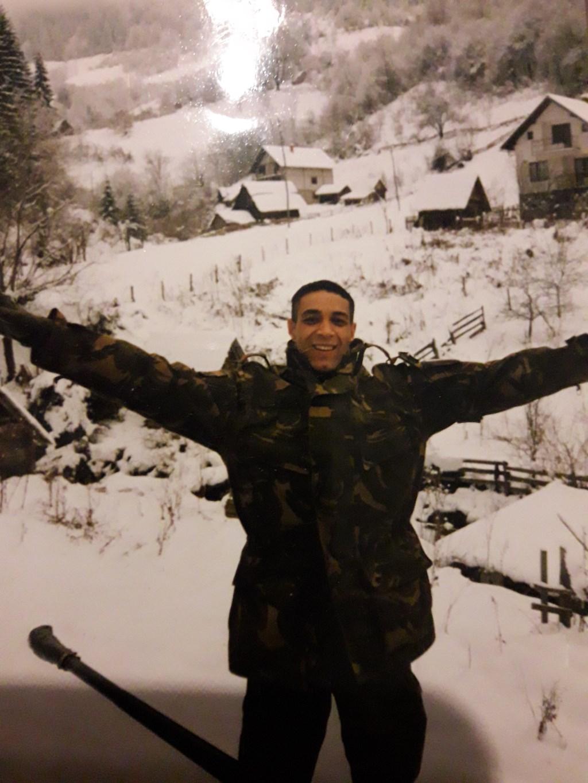 Tilburger en veteraan Mo vond zichzelf terug na zijn missie naar Bosnië.   © DPG Media