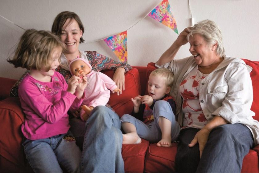 Home-Start gezin en vrijwilliger