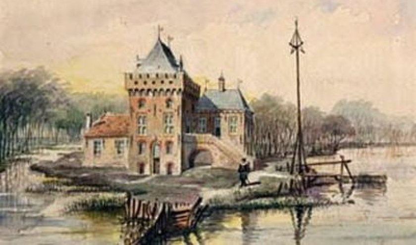Zo zou het Huis te Krooswijck er uit hebben gezien   Bron: kasteleninnederland.nl
