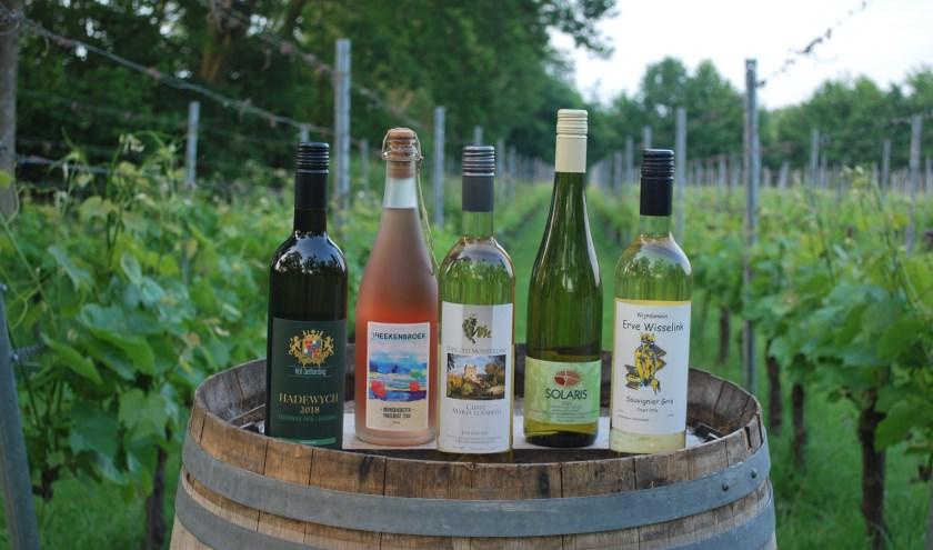 5 wijnen van 5 wijngaarden
