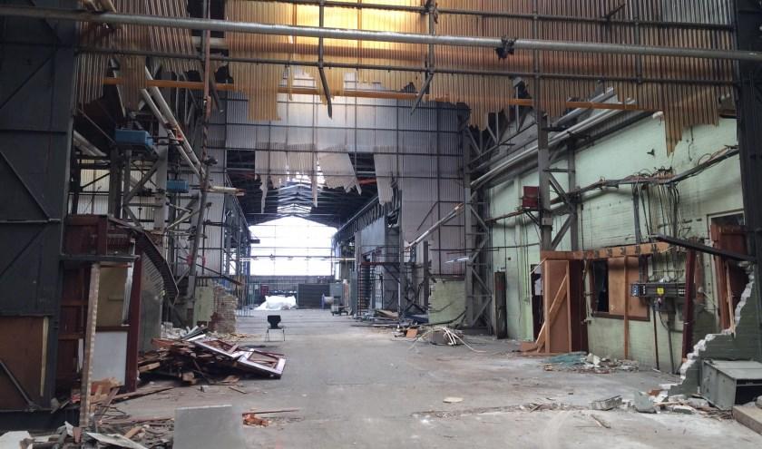 Inmiddels is alles op deze foto verleden tijd en staat er een heel nieuw gebouw.