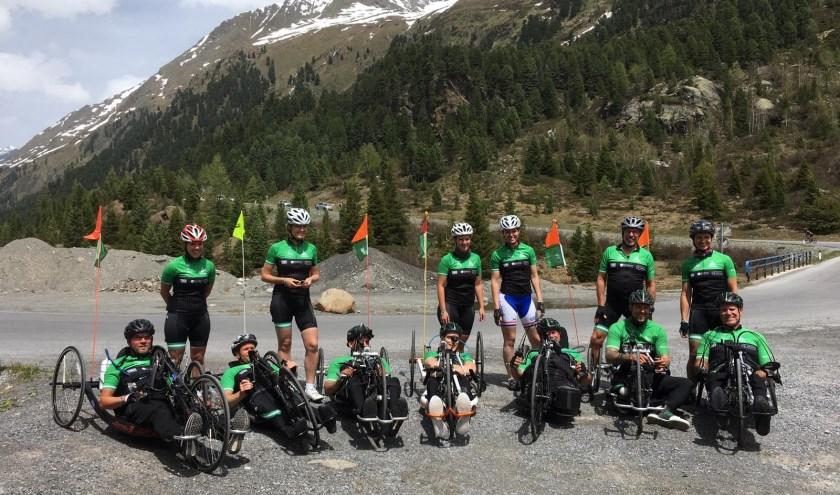 De Rijndam Racers en hun buddy's tijdens de laatste training in Oostenrijk.