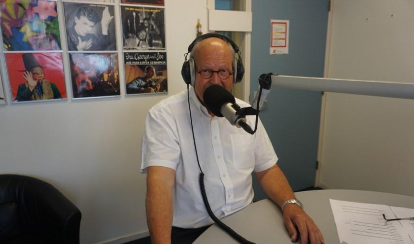 Anton Galjé in de uitzending (foto: Annemarie de Vries)