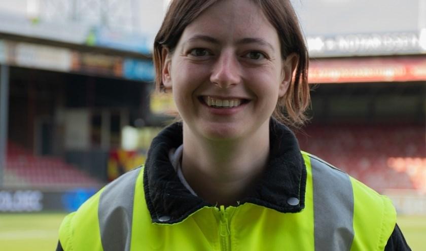 'Mijn werk als beveiligingsbeambte is nauw verwant aan mijn werk als steward.' (Foto: Jeffrey Hurenkamp)