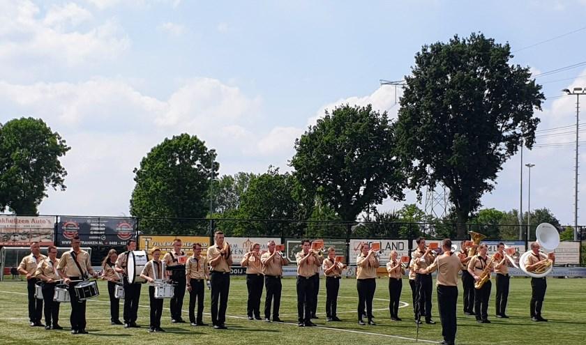 Optreden Scoutingbans Huissen tijdens landelijk scoutingband concours