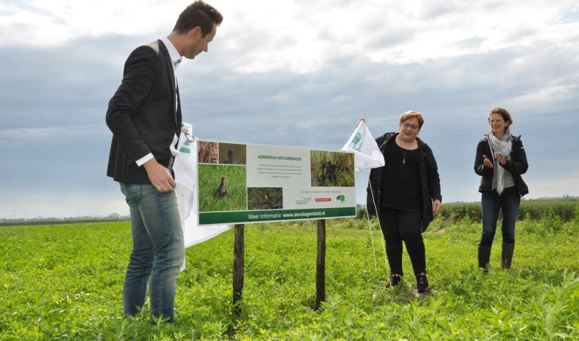 """""""De grond is als het ware voor drie jaar verpacht aan de natuur, maar wel in eigen beheer van de boeren en akkerbouwers."""" (foto: Marcel Donks)"""