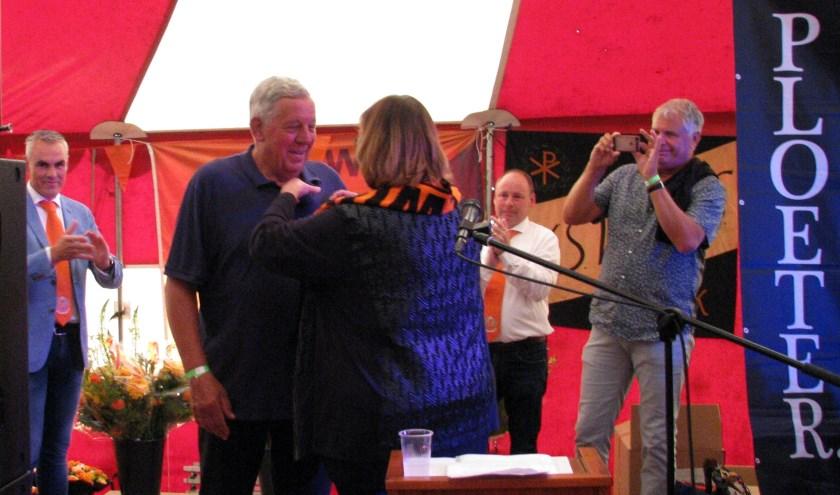 Wim Janssen werd benoemd tot Lid in de Orde van Oranje-Nassau. (foto: eigen foto)