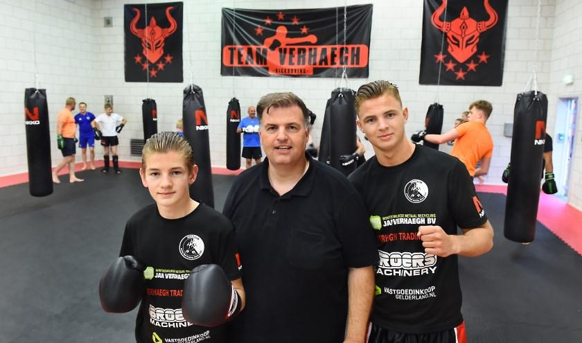 Vlnr: Willem, Frenkie en Peter van team Verhaegh Doetinchem. (foto: Roel Kleinpenning)