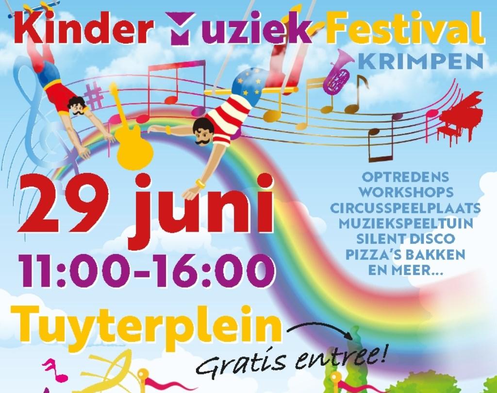 Aankondiging Kinder Muziek Festival Krimpen 2019. Foto: n.v.t. © DPG Media