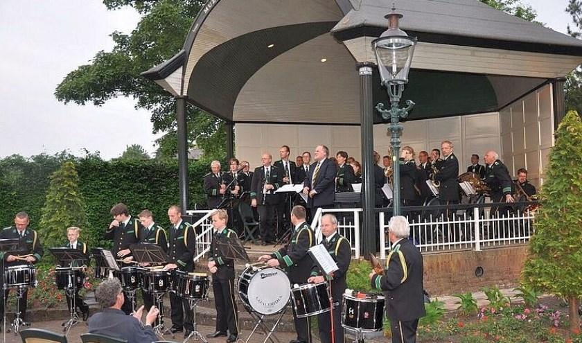 Concordia zorgt donderdag voor een concert in de muziekkoepel in Overdinkel; gratis te bezoeken.