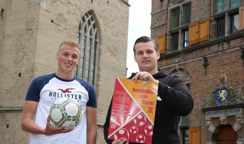 Jelle Heijink (links) en Thomas Groot hopen op een grote opkomst.