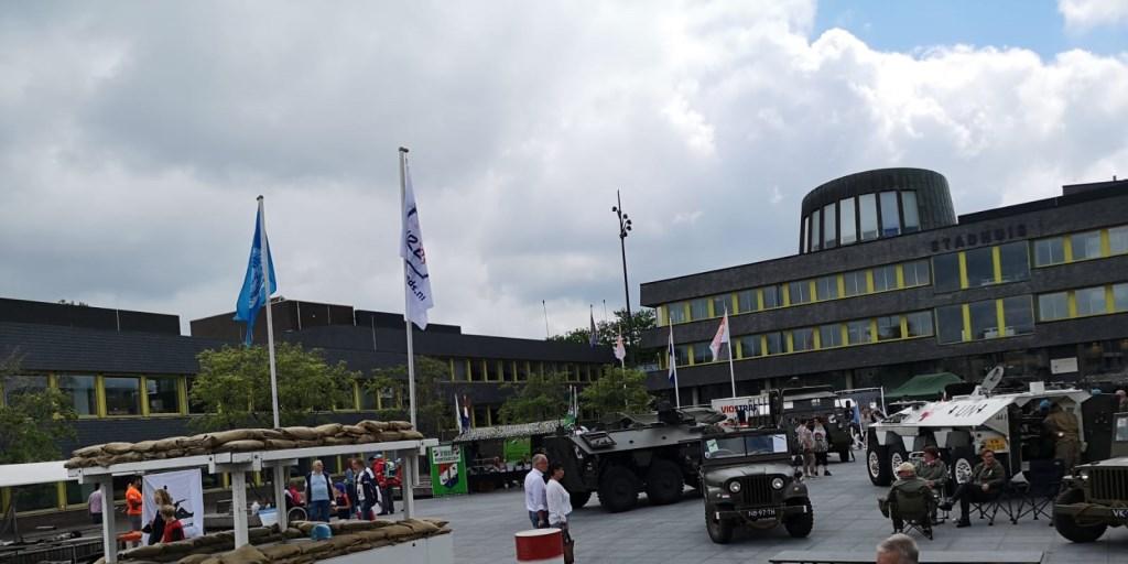 De stands zoals ze te zien waren op het Marktplein Foto: SVON © DPG Media