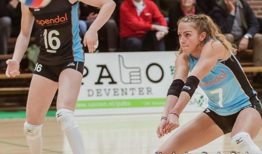 Mirte van der Sluijs in actie (Foto: Rudy Biekart)