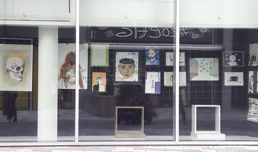 Bekijk het eindexamenwerk van leerlingen van het Anna van Rijn College in de etalage van KunstGein!