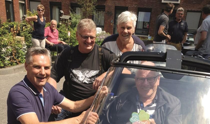 De heer Jan Fokkert heeft ontzettend genoten van zijn tocht in het zijspan. Als fervent motorrijder kon hij het zo nog een keer ervaren.
