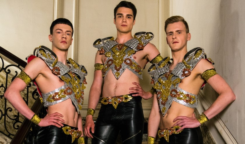 Trinxxx, 'thee boys on high heels' uit België, bekend van Holland's Got Talent komen donderdag naar de Oude Markt.