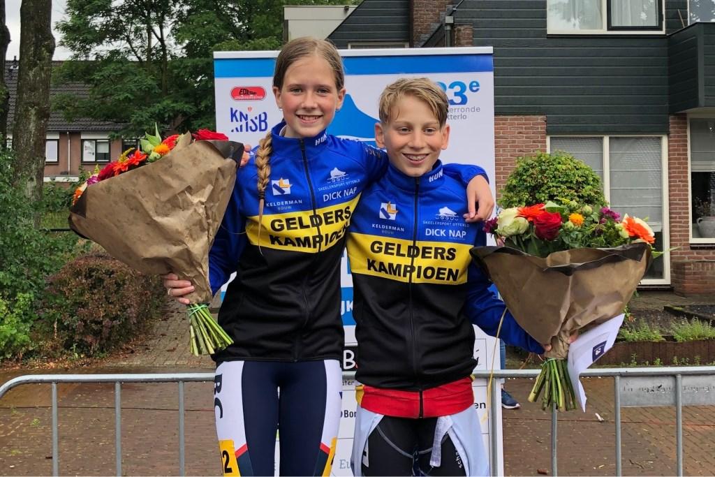 Gelders Kampioenen Marathon Britt van der Linden en Junior de Blois Foto: Kim Hiddink © DPG Media