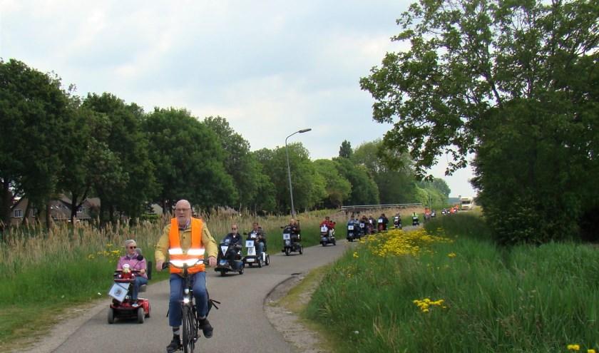 Flipje op wielen probeert op woensdag 31 juli de uitgestelde toertocht naar Geldermalsen alsnog te houden