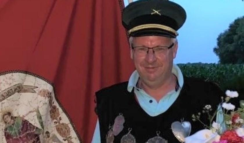 Egbert Moors is de nieuwe Gildekoning van Sint Agatha. (Foto: eigen foto)