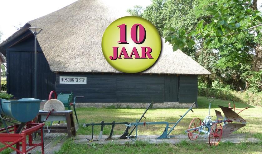Op 5 september is het precies tien jaar geleden dat aan het Zuringveld in Teteringen de heemschuur de Stee werd geopend. Dit wordt zondagmiddag 8 september gevierd met leuke activiteiten. FOTO: EVERT DE KOOIJ